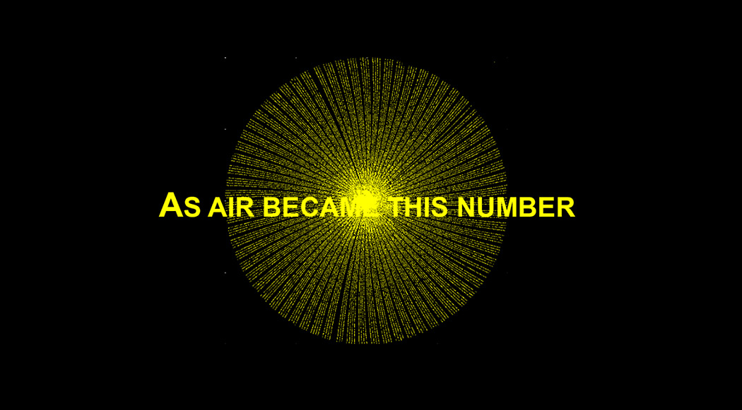 As Air Became This Number by Hanna Husberg & Agata Marzecova